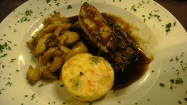 Steak and foie gras, by Penne Cole
