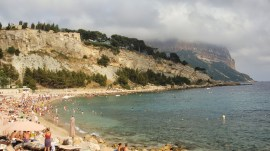 Main beach in Cassis, by Penne Cole