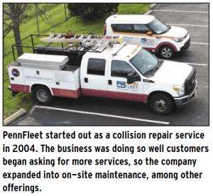 Collision, maintenance & emergency roadside   Pennfleet com