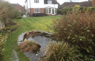 We did a range of pond cleaning tasks for a local client within Buckinghamshire