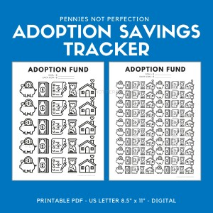 Adoption Fund Savings Tracker | Adoption Savings Coloring Chart Printable