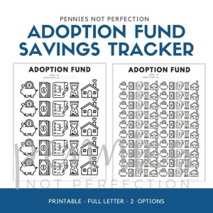 Adoption Fund Savings Tracker | Adoption Savings Coloring Chart Printable - Pennies Not Perfection