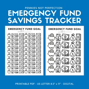 Emergency Fund Savings Tracker | Savings Tracker Printable