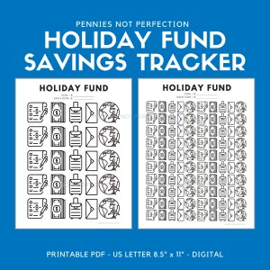 Holiday Fund Savings Goal Tracker | Holiday Fund Savings Tracker Printable PDF
