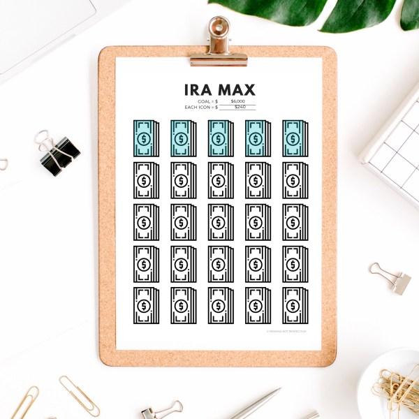 Retirement Savings Tracker Printables Bundle | 401K Roth IRA Trackers