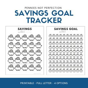 Savings Goal Tracker | Piggy Bank Savings Tracker Printable