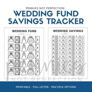 Wedding Savings Goal Tracker | Wedding Fund Savings Tracker Printable PDF - Pennies Not Perfection