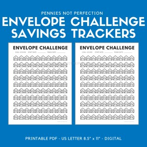 Printable 100 Envelope Savings Challenge Tracker, Save 10,100 Dollars, Save 5,050 Dollars, Money Challenges Printabl 1