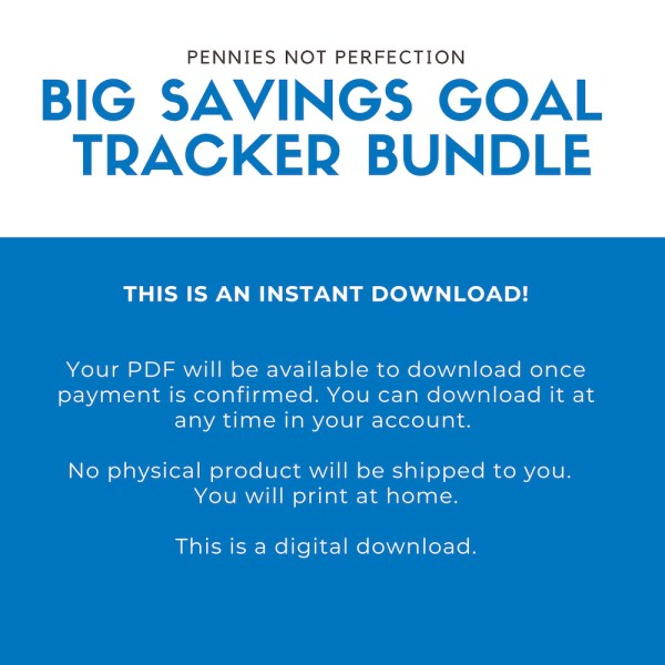 Savings Tracker Bundle + Tips, Savings Tracker Printable By Amount, Savings Challenge Tracker, Money Challenge, Save Money Planner