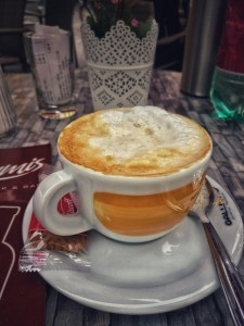 hot cup of coffee in Villach