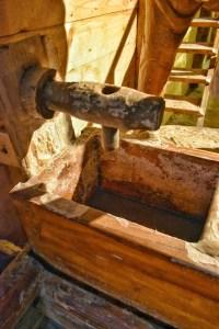 Salt water to taste at hallein salt mine in Austria