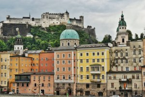 ColorfulHouses of Salzburg, Austria