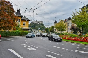 Traffic circle in Salzburg, Austria