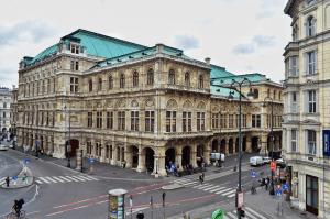 State Opera House from Terrace of Albertina, Vienna, Austria
