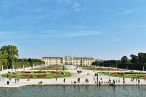 Green Parterre of Schonbrunn Gardens, Vienna, Austria
