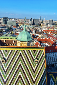 View from the South Tower of St. Stephen's Cathedral in Vienna, Austria
