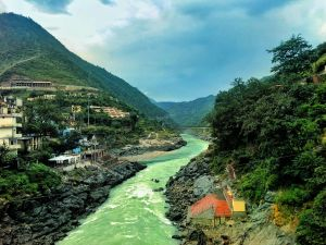 The meeting point of Alaknanda and Bhagirathi rivers and finally merging in to form Ganga in Uttrakhand