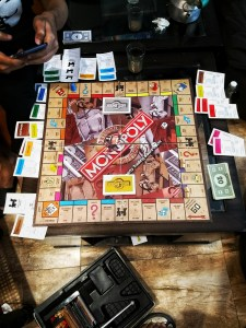 Playing monopoly with friends