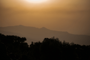 Sunset at Bombay Point in Mahabaleshwar