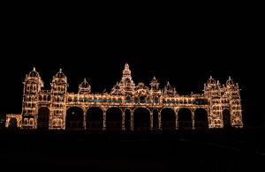 Mysore Palace Lighting at night