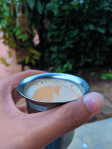 Evening coffee made at my homestay