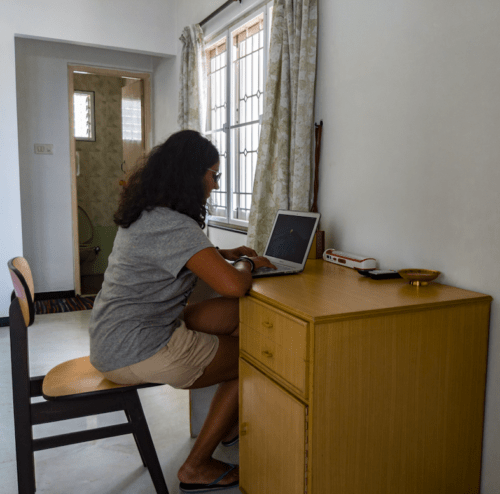 Study table in homestay in Coimbatore