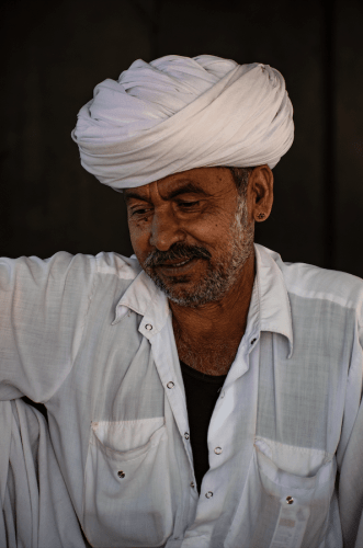 Head of a village household in Jodhpur, Rajasthan