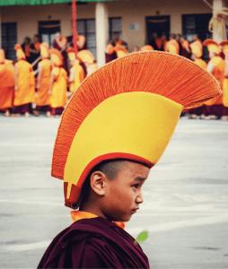 cute baby monk