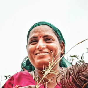indian farmer lady