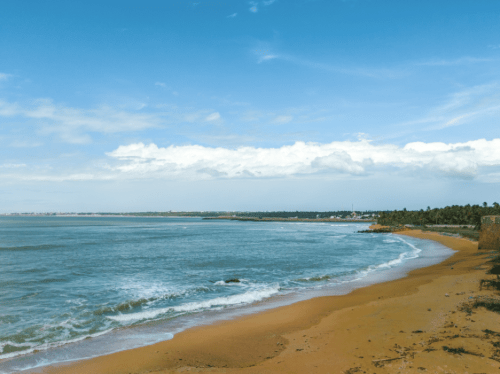 View of the beach from Vattakottai fort - kanyakumari travel places