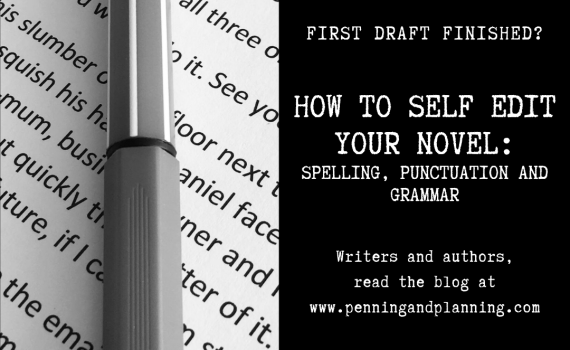 how to self edit your novel: spelling, punctuation and grammar