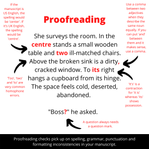 Penning and Planning proofreading example