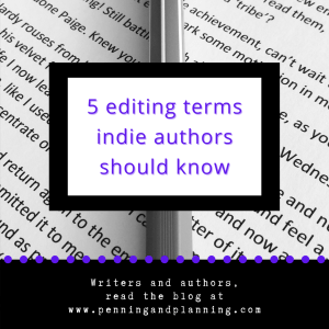 5 editing terms indie authors should know