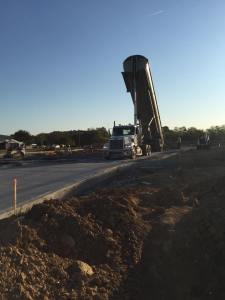 Early stages of the new parking lot for Fujiyama restaurant in Carbondale Illinois | Penninger Residential & Commercial Asphalt Paving