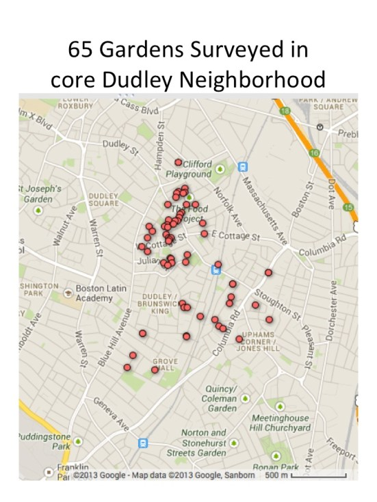Dudley Gardens map