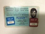 Michael Strassfeld's college ID from Brandeis University, 1971