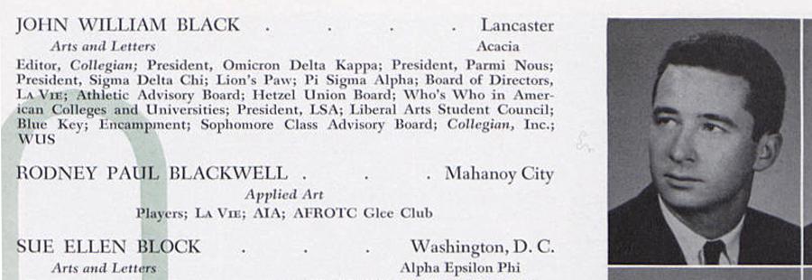 The Alumni Association's own John Black '62.