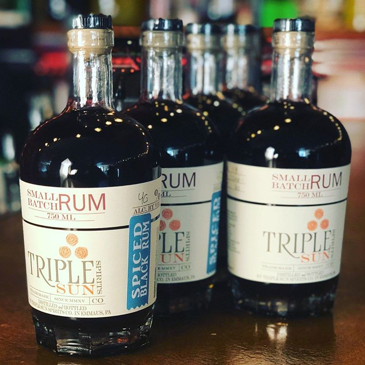 Triple Sun Small Batch Spiced Black Rum