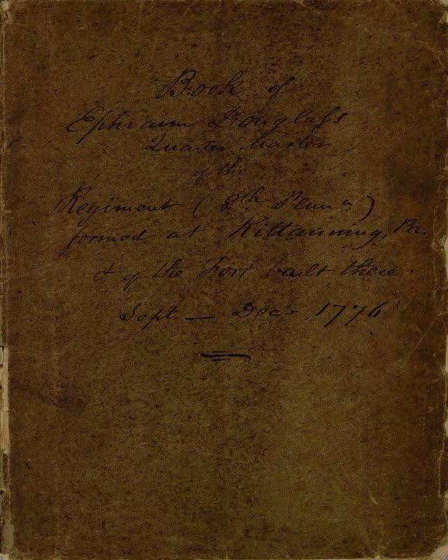 Book of Ephraim Douglass, Quartermaster 1776