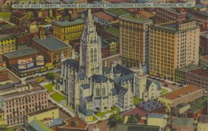 View of East Liberty, Showing East Liberty Presbyterian Church, Pittsburgh, PA