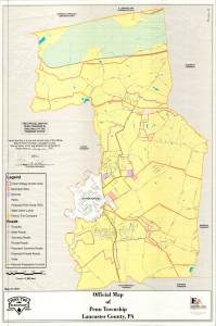 Penn Township Official Map Signed 2011