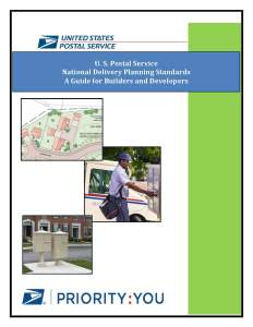 PDF of the United States Postal Services National Delivery Planning Standards - A Guide for Builders and Developers.