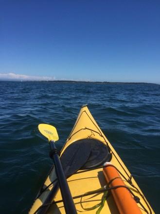 Kayak on the water - near Victoria
