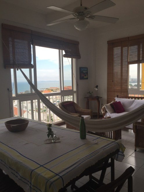 A sweet Airbnb apartment in Cartagena. And yes the hammock was used - mostly by Penny.