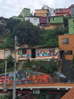 A neighborhood served by the outside escalators