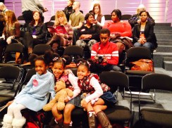 Puffball girls in the audience