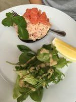Salmon, shrimp & avocado salad