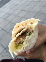 Herring wrap from the food truck outside Slussen station