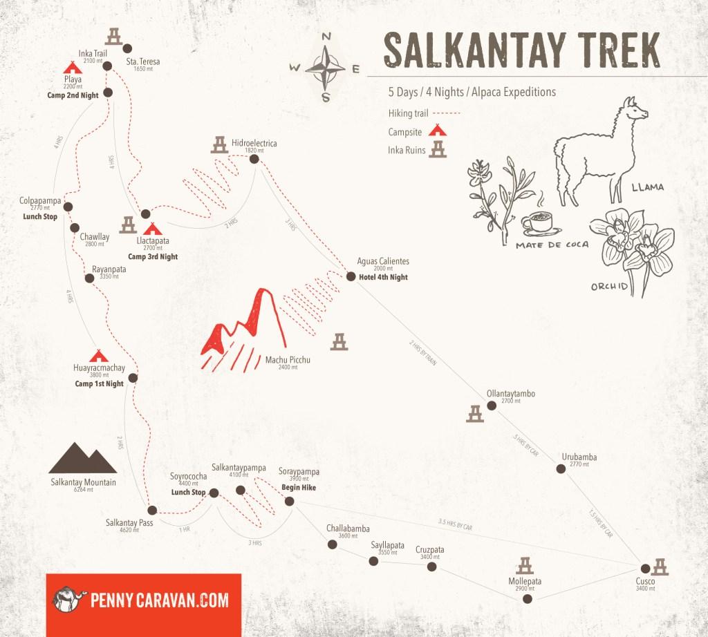 Salkantay-Map