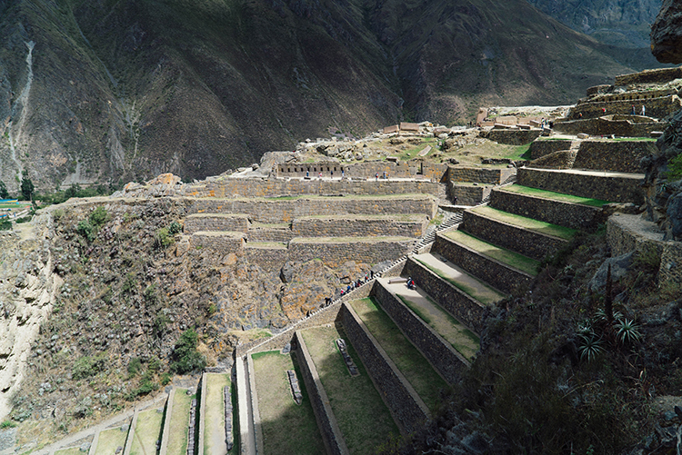 Garden terraces at Ollantaytambo. The sun temple is also impressive.
